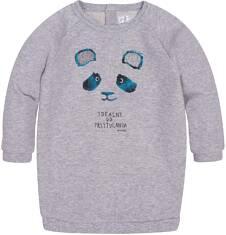 Ciepła sukienka o charakterze bluzy dla dziecka 6-36 m N72H010_1