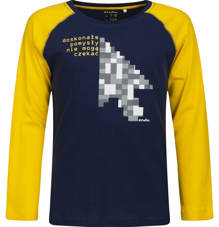Endo - T-shirt z długim rękawem dla chłopca 3-8 lat C82G092_1