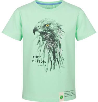 Endo - T-shirt z krótkim rękawem dla chłopca, z jastrzębiem, zielony, 9-13 lat C03G597_2 29