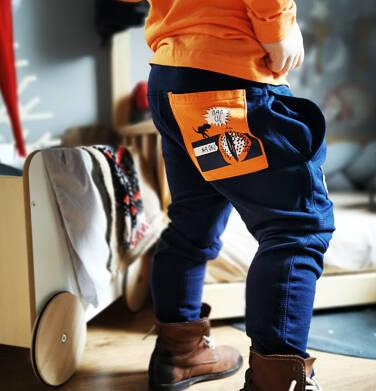 Endo - Spodnie dresowe dla chłopca, granatowe, 2-8 lat C04K022_1,2