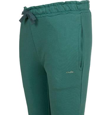 Endo - Spodnie dresowe dla dziewczynki, zielone, 9-13 lat D04K033_2,2