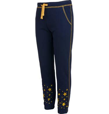 Endo - Spodnie dresowe dla dziewczynki, z gwiadkami, granatowe, 9-13 lat D04K034_1,3