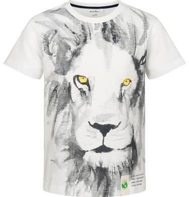 Endo - T-shirt z krótkim rękawem dla chlopca, z lwem, porcelanowy, 2-8 lat C03G119_1 7