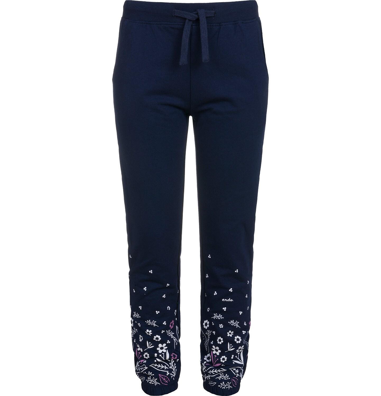 Endo - Spodnie dresowe dla dziewczynki, granatowe, 9-13 lat D04K035_1