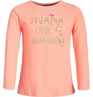 """""""Odważna choć nierozważna"""" Bluzka z długim rękawem dla dziewczynki 3-8 lat D82G081_1"""