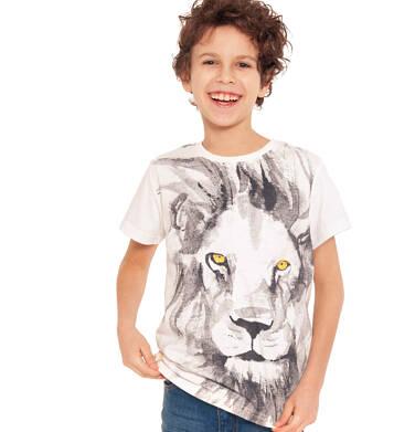 Endo - T-shirt z krótkim rękawem dla chlopca, z lwem, porcelanowy, 9-13 lat C03G619_1 33