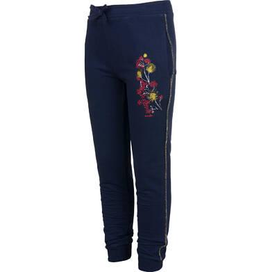 Endo - Spodnie dresowe dla dziewczynki, granatowe, 9-13 lat D04K039_1,2