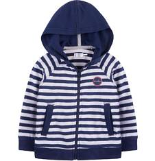 Bluza z kapturem na suwak dla dziecka 0-3 lat N71C008_1