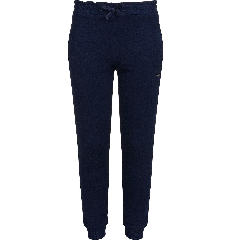 Endo - Spodnie dresowe dla dziewczynki, granatowe, 2-8 lat D04K052_1