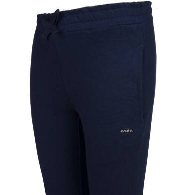 Endo - Spodnie dresowe dla dziewczynki, granatowe, 2-8 lat D04K052_1 110