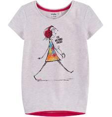 Tunika z krótkim rękawem dla dziewczynki 4-8 lat D71G051_1