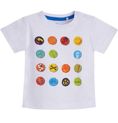 Endo - T-shirt z krótkim rękawem dla dziecka 0-3 lata N81G046_1