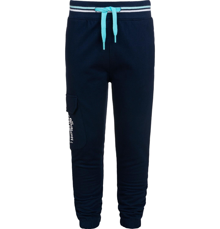 Endo - Spodnie dresowe dla chłopca, z dodatkową kieszenią, granatowe, 9-13 lat C05K018_1