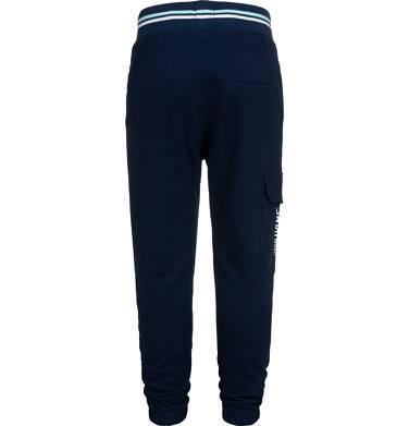 Endo - Spodnie dresowe dla chłopca, z dodatkową kieszenią, granatowe, 9-13 lat C05K018_1,3