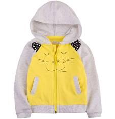 Bluza z kapturem na suwak dla dziecka 0-3 lat N71C013_1