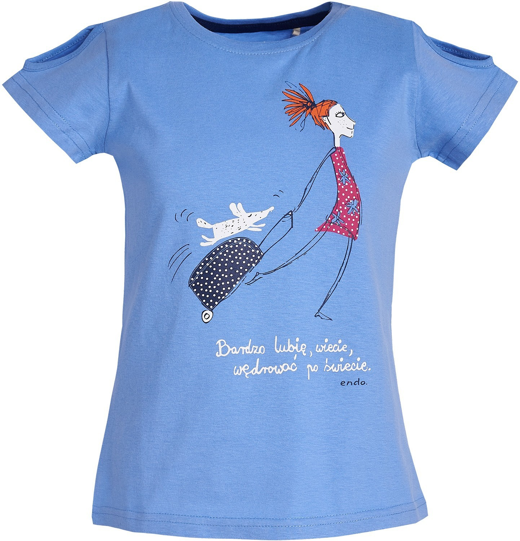 Endo - T-shirt z krótkim rękawem dla dziewczynki 9-13 lat D81G618_2