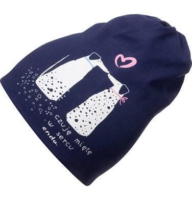 Endo - Czapka wiosenna dla dziecka, z pieskami, granatowa D05R018_1 2