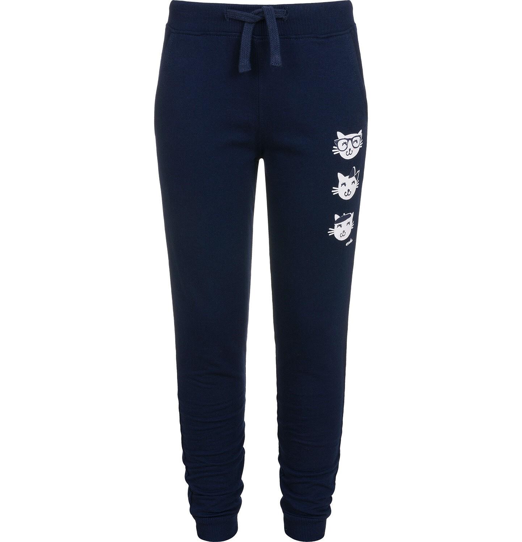 Endo - Spodnie dresowe dla dziewczynki, granatowe, 2-8 lat D04K060_2