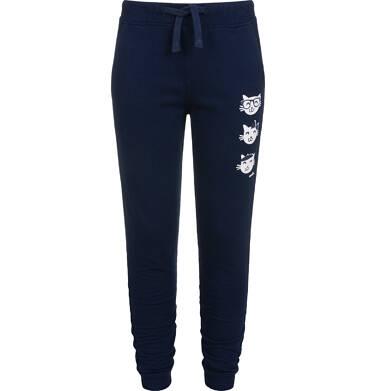 Spodnie dresowe dla dziewczynki, granatowe, 2-8 lat D04K060_2