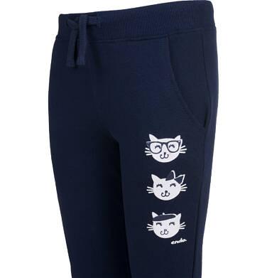 Endo - Spodnie dresowe dla dziewczynki, granatowe, 2-8 lat D04K060_2 28