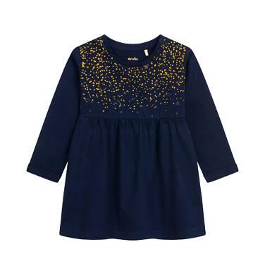 Endo - Sukienka z długim rękawem dla dziecka do 2 lat, granatowa N04H001_1 5