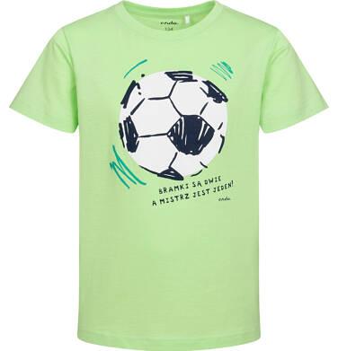 Endo - T-shirt z krótkim rękawem dla chłopca, z piłką nożną, zielony, 9-13 lat C05G099_2 29