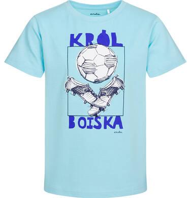 Endo - T-shirt z krótkim rękawem dla chłopca, król boiska, niebieski, 9-13 lat C05G028_2 27