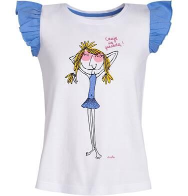 Endo - Bluzka z krótkim rękawem dla dziewczynki 3-8 lat D81G155_1