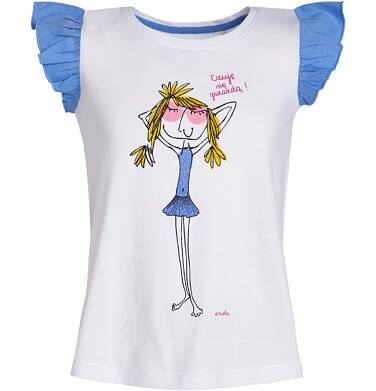 Endo - Bluzka z krótkim rękawem dla dziewczynki 9-13 lat D81G655_1