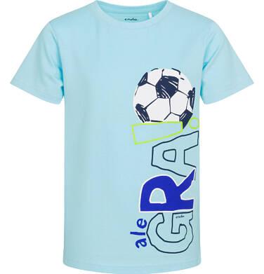 Endo - T-shirt z krótkim rękawem dla chłopca, z piłką nożną, niebieski, 9-13 lat C05G030_2 25
