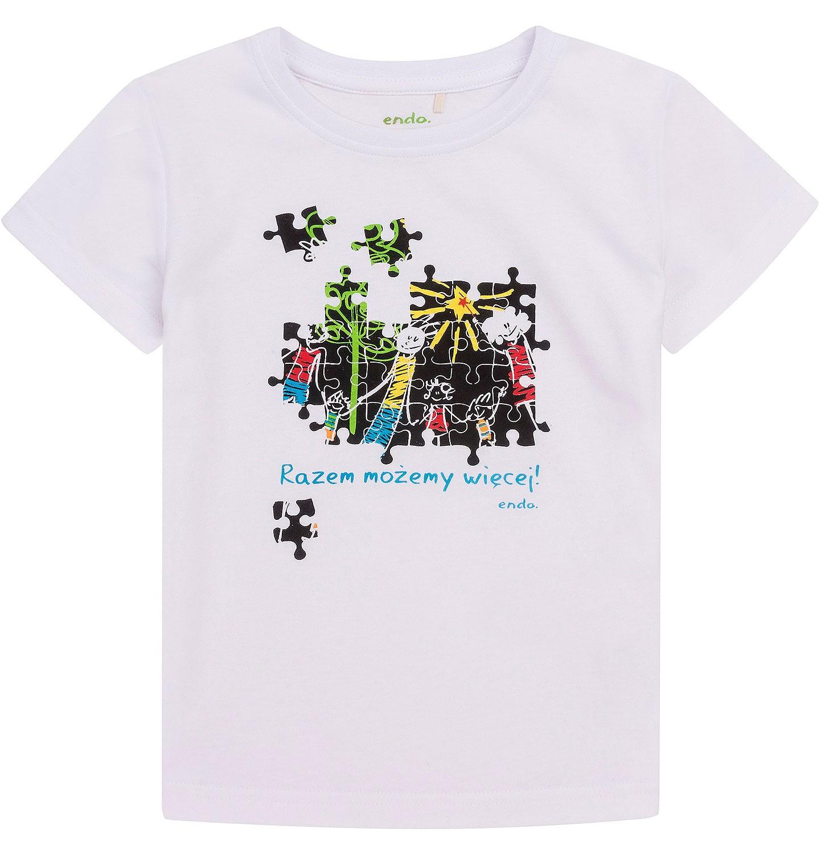 Endo - Razem możemy więcej - T-shirt dla chłopca 3-8 lat. C72G163_1