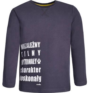 Endo - T-shirt z długim rękawem dla chłopca 9-13 lat C82G541_2