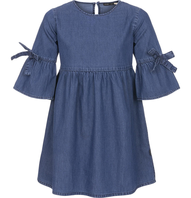 Endo - Sukienka jeansowa z rękawem 3/4 dla dziewczynki 9-13 lat D91H504_1