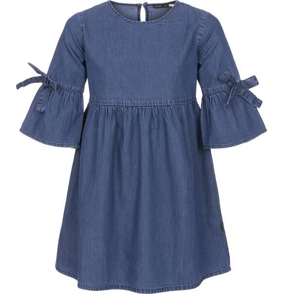 92d246ae00 Endo - Sukienka jeansowa z rękawem 3 4 dla dziewczynki 9-13 lat D91H504 1