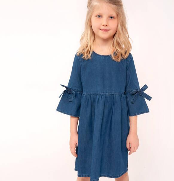 877840c5b8 Endo - Sukienka jeansowa z rękawem 3 4 dla dziewczynki 9-13 lat D91H504 1.  ‹ ›