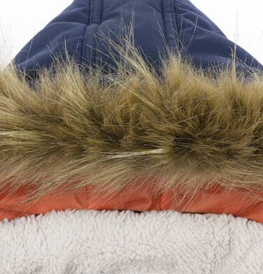 Endo - Zimowa kurtka parka dla małego dziecka, Nawet po zmroku jestem na widoku, ciemnogranatowa, ciepła N92A023_1,6