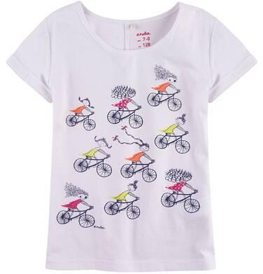 Endo - Bluzka z krótkim podwiniętym rękawem dla dziewczynki 9-13 lat D71G627_1