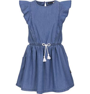 Sukienka jeansowa z krótkim rękawem dla dziewczynki 3-8 lat D91H006_1