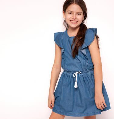 Endo - Sukienka jeansowa z krótkim rękawem dla dziewczynki 9-13 lat D91H506_1