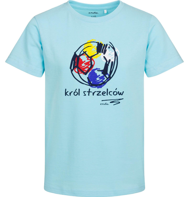 Endo - T-shirt z krótkim rękawem dla chłopca, król strzelców, niebieski, 2-8 lat C05G059_1