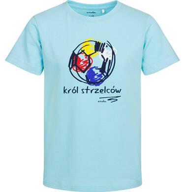 T-shirt z krótkim rękawem dla chłopca, król strzelców, niebieski, 2-8 lat C05G059_1