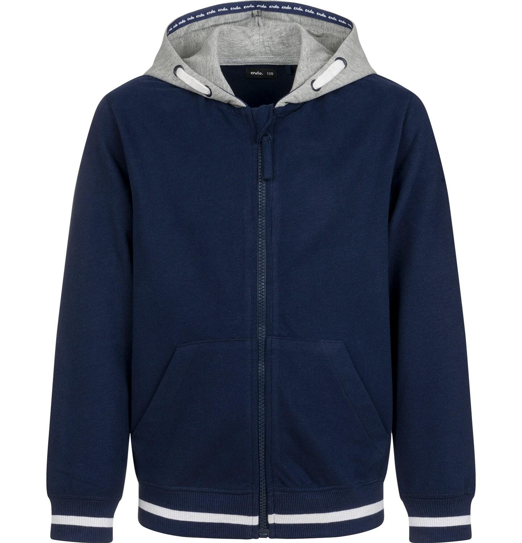 Endo - Rozpinana bluza z kapturem dla chłopca, granatowa, 9-13 lat C03C509_1