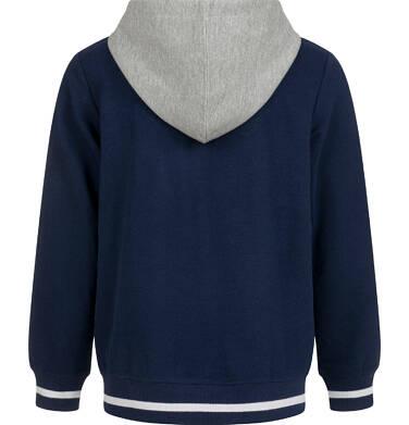 Endo - Rozpinana bluza z kapturem dla chłopca, granatowa, 9-13 lat C03C509_1,2