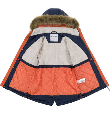 Endo - Zimowa kurtka parka dla chłopca 3-8 lat, Nawet po zmroku jestem na widoku, granatowa C92A002_1