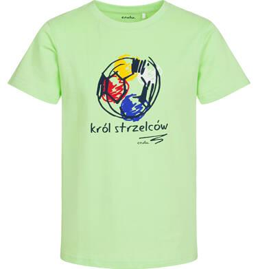 T-shirt z krótkim rękawem dla chłopca, król strzelców, zielony, 2-8 lat C05G059_2