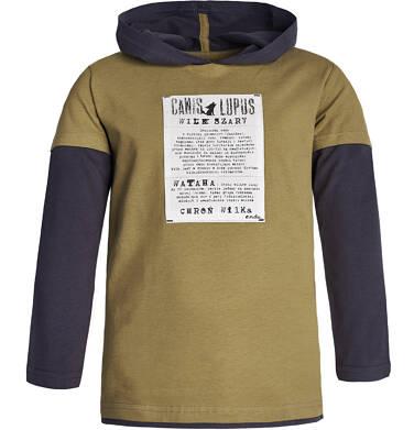 """Endo - """"Wilk szary"""" Bluza cienka z kapturem dla chłopca 9-13 lat C82G545_1"""