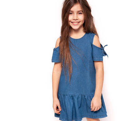 Endo - Sukienka jeansowa z krótkim rękawem dla dziewczynki 9-13 lat D91H507_1