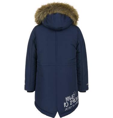 Endo - Zimowa kurtka parka dla chłopca 9-13 lat, Nawet po zmroku jestem na widoku, granatowa C92A502_1