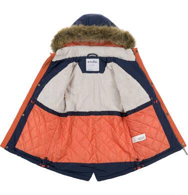 Endo - Zimowa kurtka parka dla chłopca 9-13 lat, Nawet po zmroku jestem na widoku, granatowa, ciepła C92A502_1 1