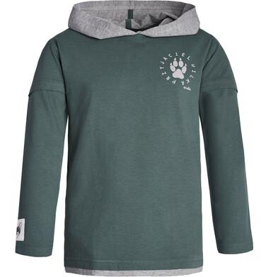 """Endo - """"Przyjaciel Wilk"""" Bluza cienka z kapturem dla chłopca 3-8 lat C82G046_1"""